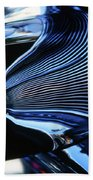 Classic Car Chrome Abstract Reflected Grill Beach Towel