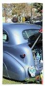 Classic Car Decorations Day Dead  Beach Sheet