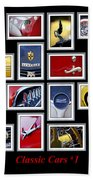 Classic Car Montage Art 1 Beach Towel