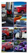 Classic Cars Beach Towel by Robert L Jackson