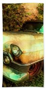 Classic Country Cadillac Painting  Beach Towel