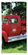Classic Fire Truck Beach Towel