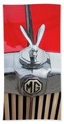 1936 Mg Ta Radiator And Mascot Beach Towel
