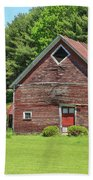 Classic Old Red Barn In Vermont Beach Towel