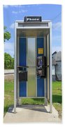 Classic Pay Phone Booth Beach Towel