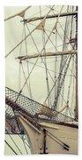 Classic Sail Ship Beach Towel