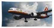 Classic Twa Boeing 757-231 Beach Towel