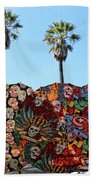 Classic Umbrellas Day Of The Dead  Beach Towel