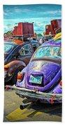 Classic Volkswagen Beetle - Old Vw Bug Beach Towel