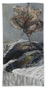 Claude Monet 1840 - 1926 Pheasant, Woodcock And Partridge Beach Towel