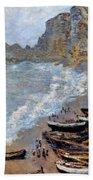 Claude Monet: Etretat, 1883 Beach Towel
