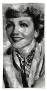 Claudette Colbert Vintage Hollywood Actress Beach Towel