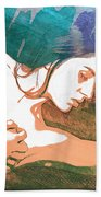 Claudia Nude Fine Art Painting Print In Sensual Sexy Color 4893. Beach Towel