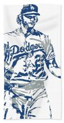 Clayton Kershaw Los Angeles Dodgers Pixel Art 10 Beach Towel