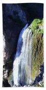 Clear Creek Waterfall  Beach Towel