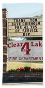 Clear Lake Fire Department Beach Towel