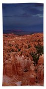 Clearing Storm Over The Hoodoos Bryce Canyon National Park Beach Towel by Dave Welling