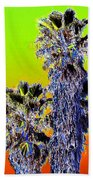 Clearlake Palm Trees Beach Towel
