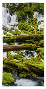 Clearwater Falls And Rapids Beach Towel