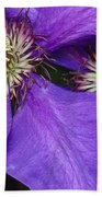 Clematis Detail Beach Towel