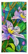 Clematis For Elsie Beach Towel
