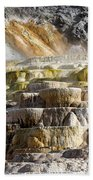Cleopatra Terrace In Yellowstone National Park Beach Towel