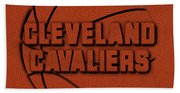 Cleveland Cavaliers Leather Art Beach Towel