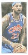 Cleveland Cavaliers Lebron James 1 Beach Towel