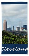 Cleveland Poster Beach Towel