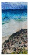 Cliff And Water Beach Towel