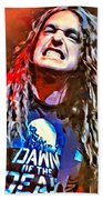 Cliff Burton Portrait Beach Towel