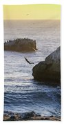 Cliff Jumping To Surf Beach Towel