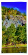Cliff Of Color Beach Towel