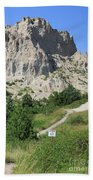 Cliff Shelf Trail In Badlands National Park South Dakota Beach Towel