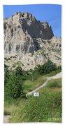 Cliff Shelf Trail In Badlands National Park South Dakota Beach Sheet