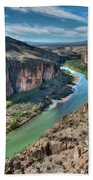 Cliff View Of Big Bend Texas National Park And Rio Grande  Beach Towel