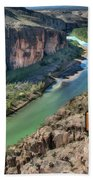Cliff View Of Big Bend Texas National Park And Rio Grande Text Big Bend Texas Beach Towel