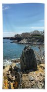 Cliff Walk View Beach Towel