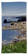 Cliffs Near Souter Lighthouse. Beach Towel