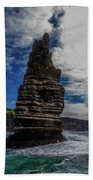 Cliffs Of Moher Stack Beach Towel