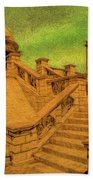 Clifton Monument At Jehangir Kothari Parade Beach Towel
