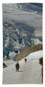 T-204805-climbing Party Mt. Rainier  Beach Towel