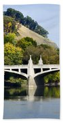 Clinton St. Bridge Prospect Mountain Binghamton Ny Beach Towel