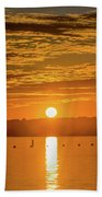Clinton Sunset 1 Beach Towel