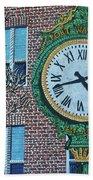 Clock At Port Warwick Beach Towel