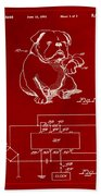 Clock For Keeping Animal Time Patent Drawing 1b Beach Towel
