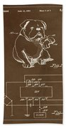 Clock For Keeping Animal Time Patent Drawing 1c Beach Towel