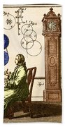 Clockmaker Beach Towel by Photo Researchers