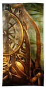 Clockmaker - The Day Time Stood Still  Beach Towel by Mike Savad