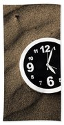 Clocks And Ripples Beach Towel